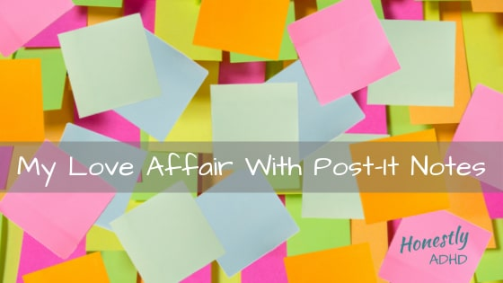 My love affair with Post It Notes